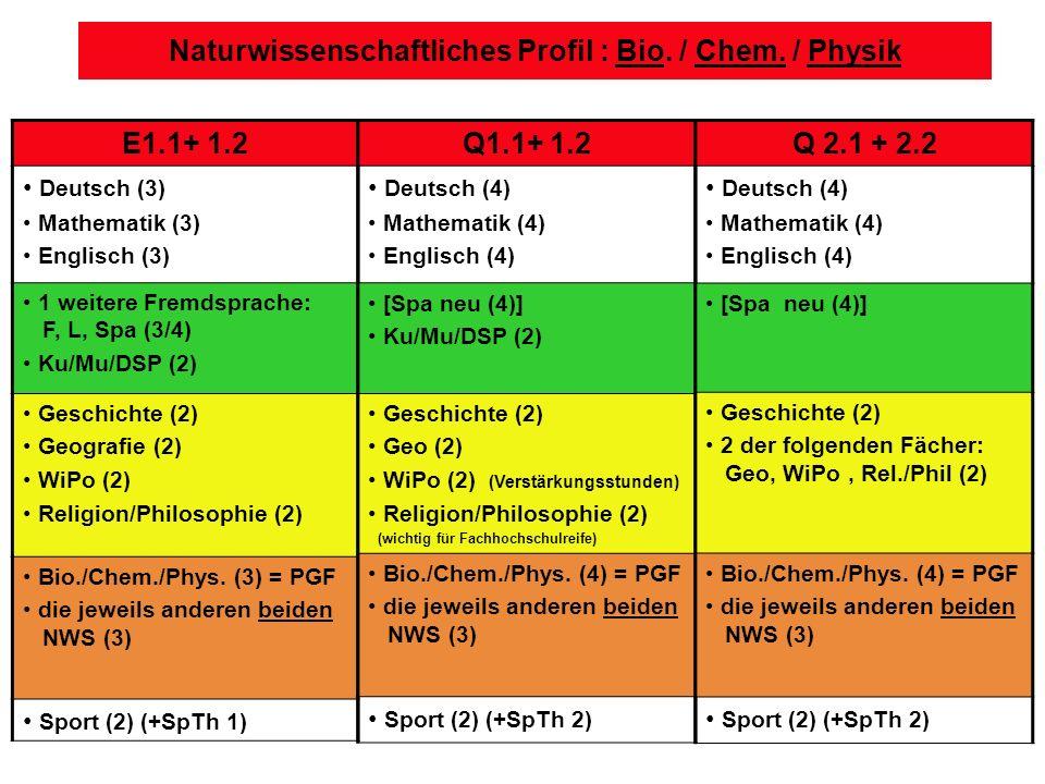 Naturwissenschaftliches Profil : Bio./ Chem.