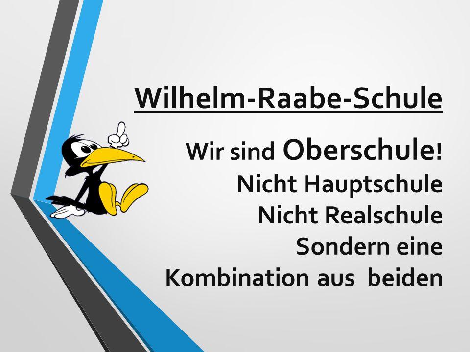 Wilhelm-Raabe-Schule Wir sind Oberschule ! Nicht Hauptschule Nicht Realschule Sondern eine Kombination aus beiden