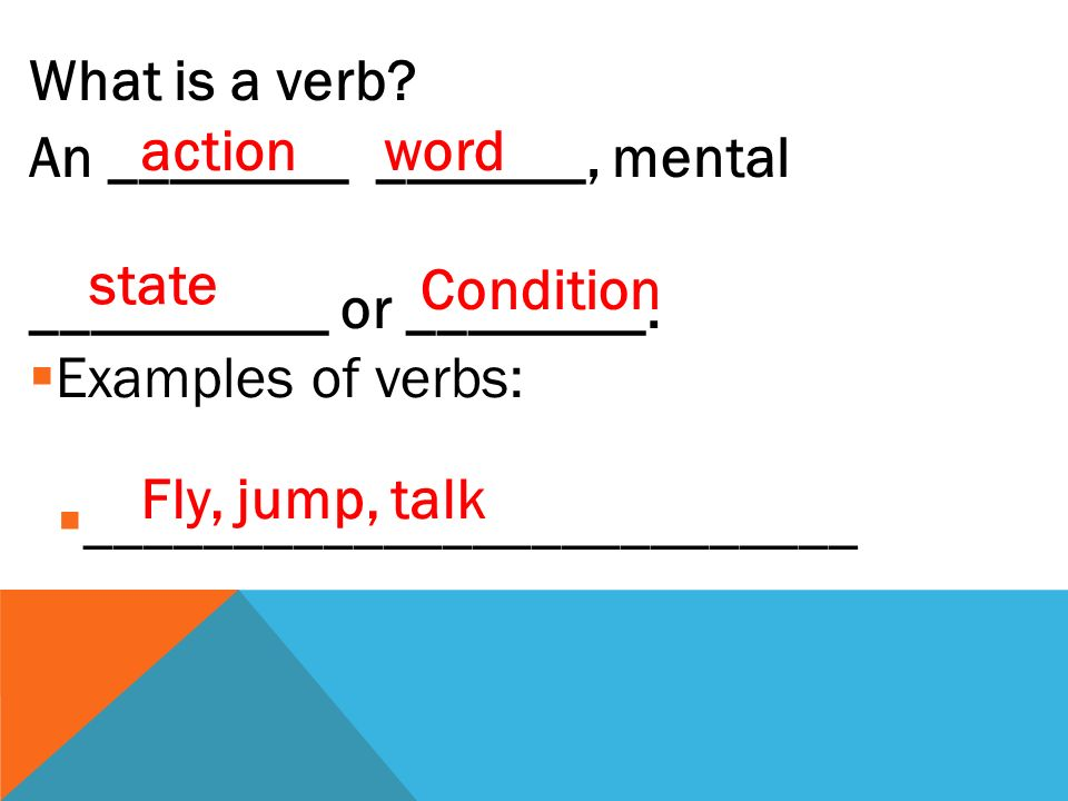The verb lingo you need to know  __________________  The __________________ form of the verb  Before it's____________________  The form you find in the ________________ Infinitive Pure conjugated dictionary