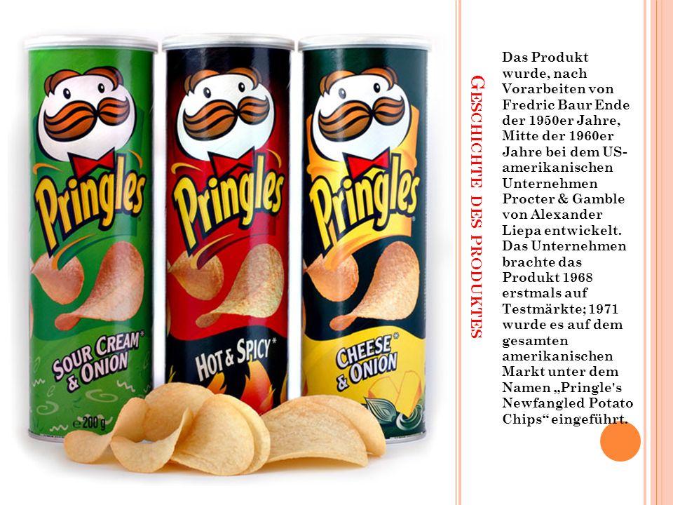 G ESCHICHTE DES PRODUKTES Das Produkt wurde, nach Vorarbeiten von Fredric Baur Ende der 1950er Jahre, Mitte der 1960er Jahre bei dem US- amerikanischen Unternehmen Procter & Gamble von Alexander Liepa entwickelt.