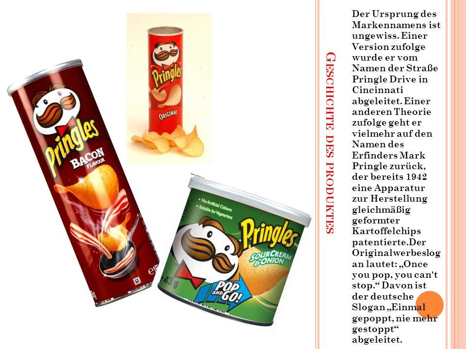 """In Deutschland werden derzeit folgende Sorten angeboten: """"Original , """"Sour Cream & Onion , """"Cheese & Onion , """"Paprika , """"Texas Barbecue Sauce , """"Hot & Spicy , """"Ketchup ,""""Salt & Pepper und noch viele andere."""