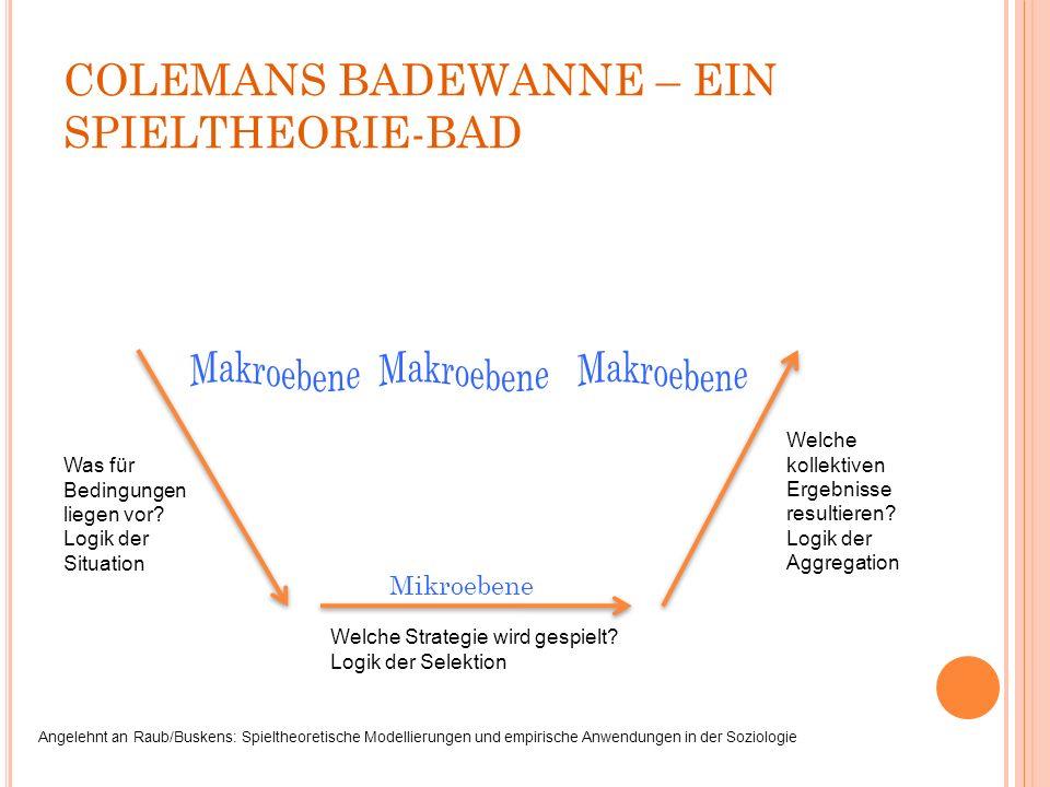COLEMANS BADEWANNE – EIN SPIELTHEORIE-BAD Welche Strategie wird gespielt.