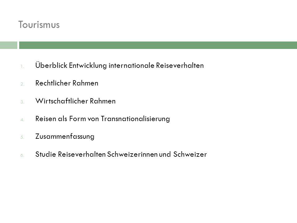 Reiseverhalten Schweizerinnen und Schweizer  Travel Market Switzerland 2007 (Universität St.