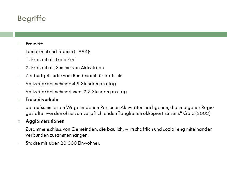 Begriffe  Freizeit: Lamprecht und Stamm (1994): 1.