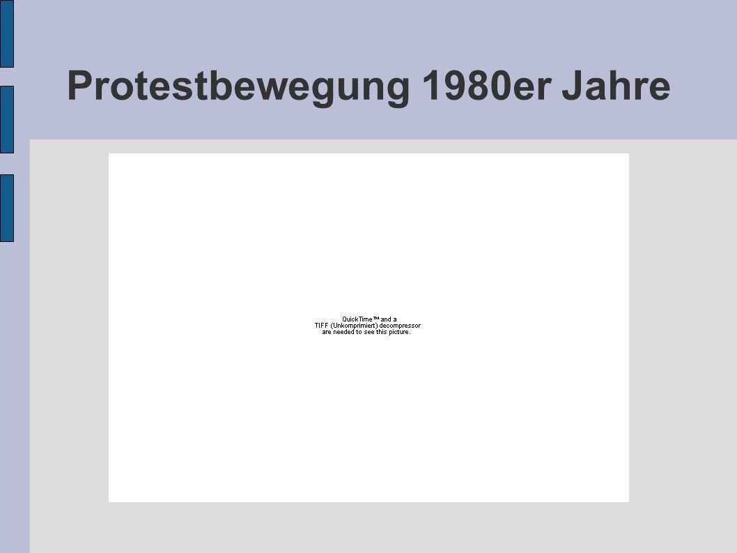 Protestbewegung 1980er Jahre