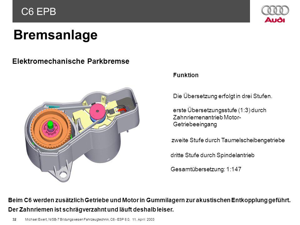 C6 EPB Michael Ewert, N/SB-7 Bildungswesen Fahrzeugtechnik, C6 - ESP 8.0, 11.