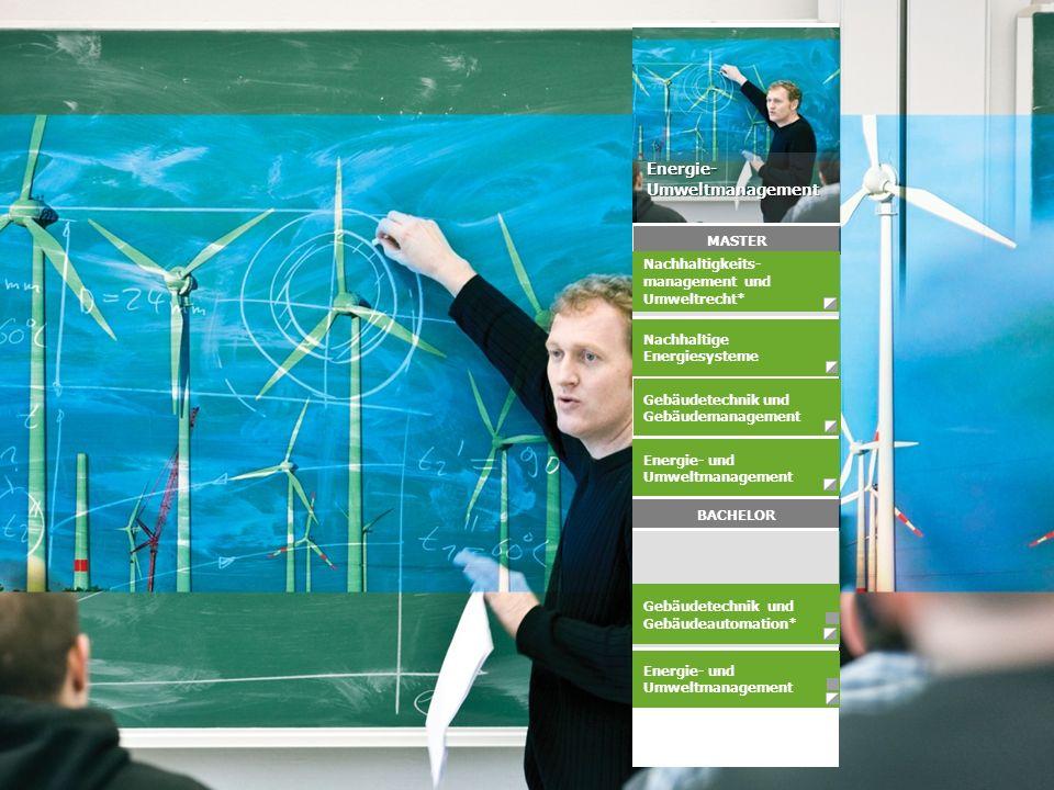 Energie- und Umweltmanagement Energie- und Umweltmanagement Gebäudetechnik und Gebäudemanagement Nachhaltige Energiesysteme Energie-Umweltmanagement B