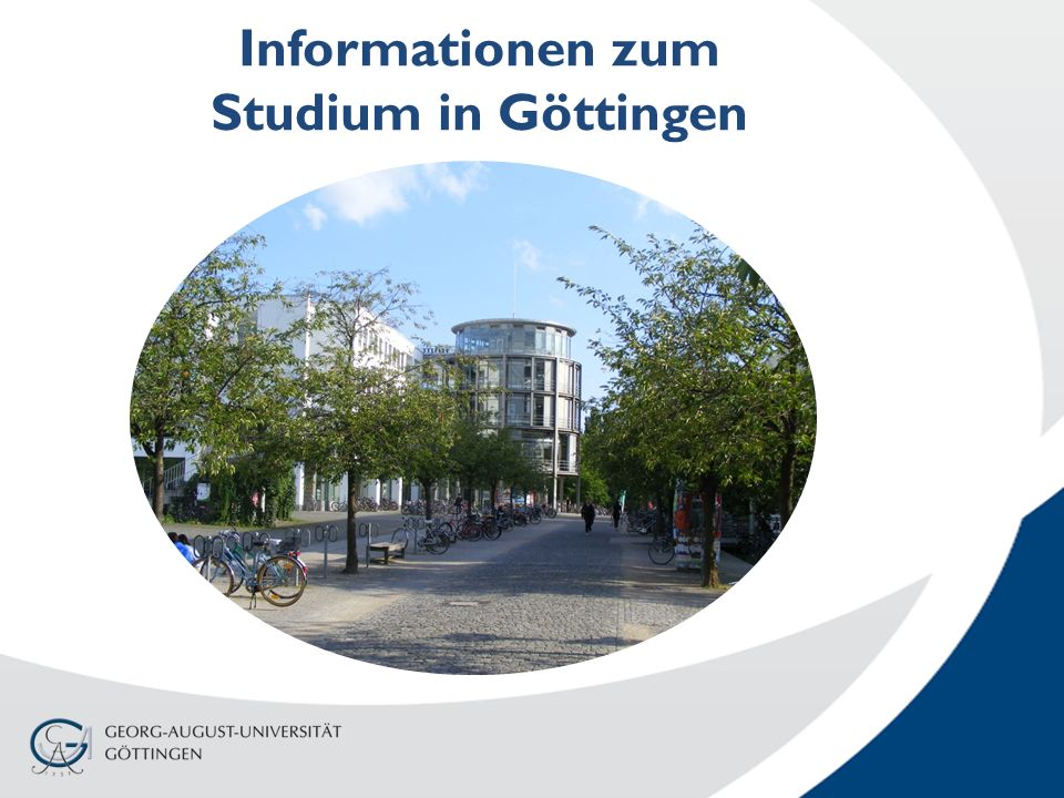 Informationen zum Studium in Göttingen