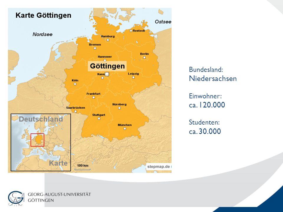 Bundesland: Niedersachsen Einwohner: ca. 120.000 Studenten: ca. 30.000