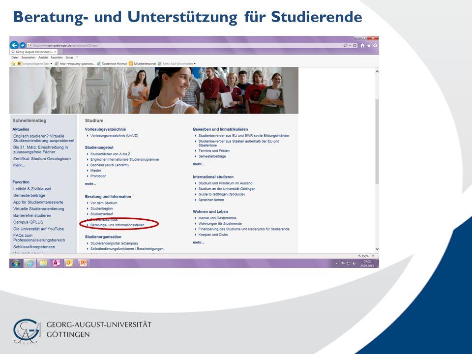 Beratung- und Unterstützung für Studierende