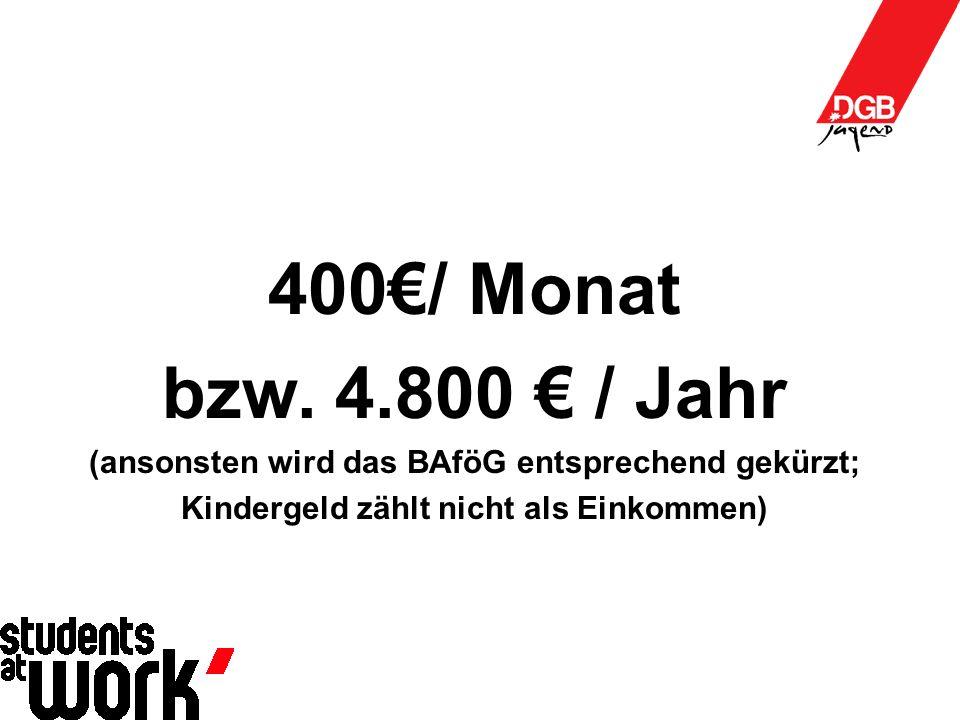 400€/ Monat bzw.