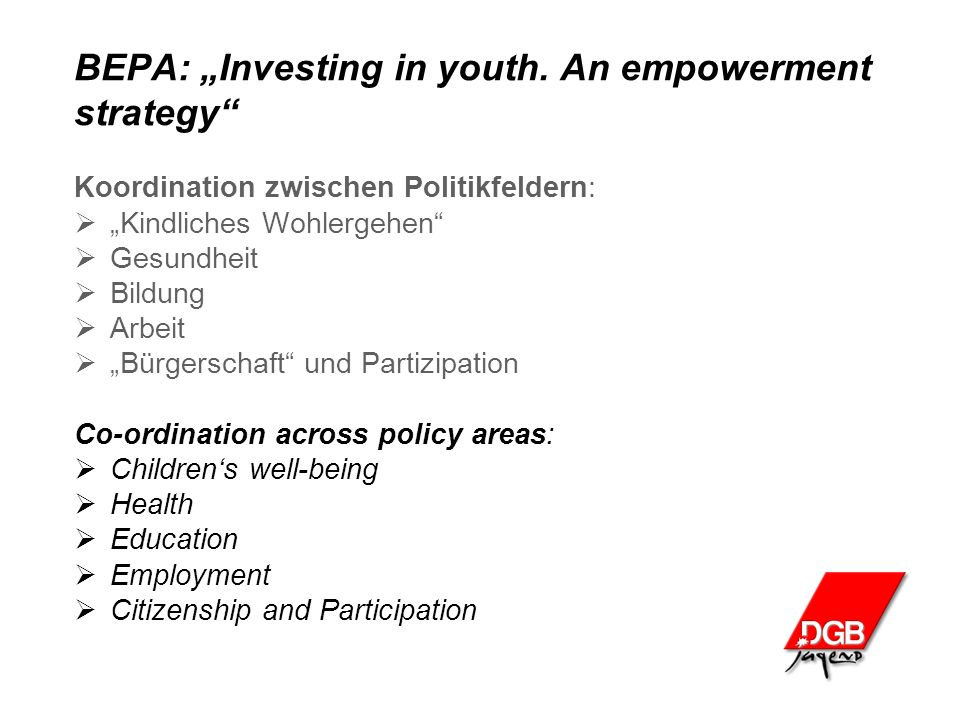 "BEPA: ""Investing in youth."