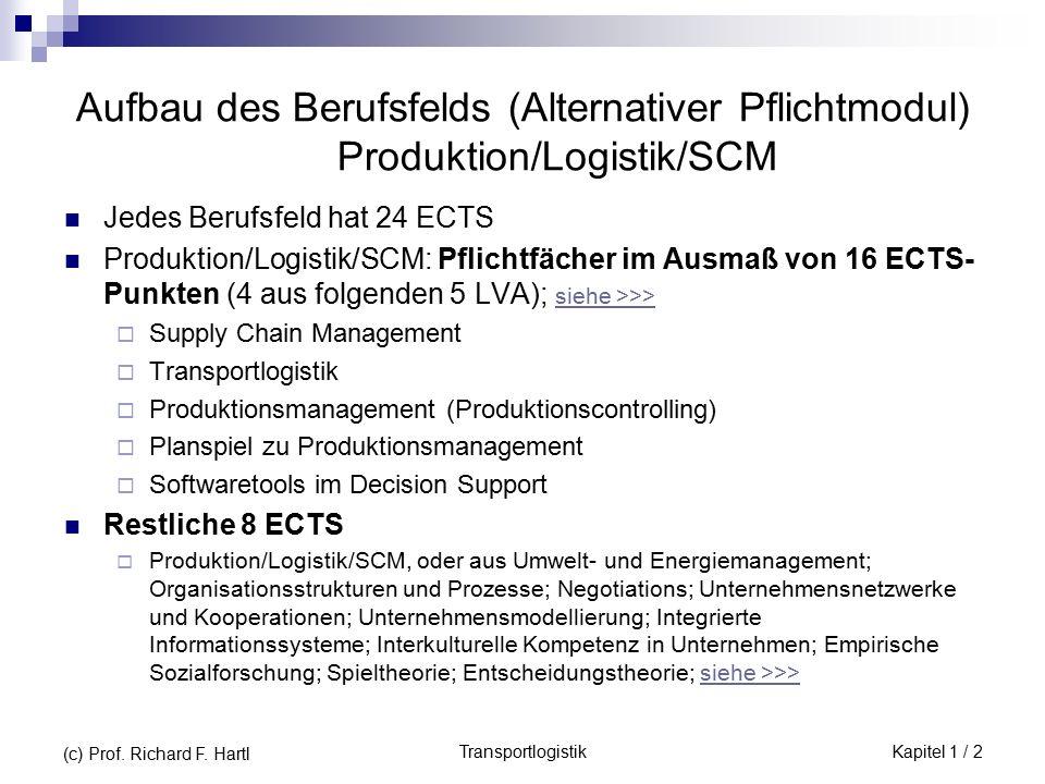 TransportlogistikKapitel 1 / 2 (c) Prof. Richard F.