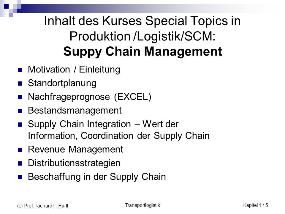 TransportlogistikKapitel 1 / 5 (c) Prof. Richard F.