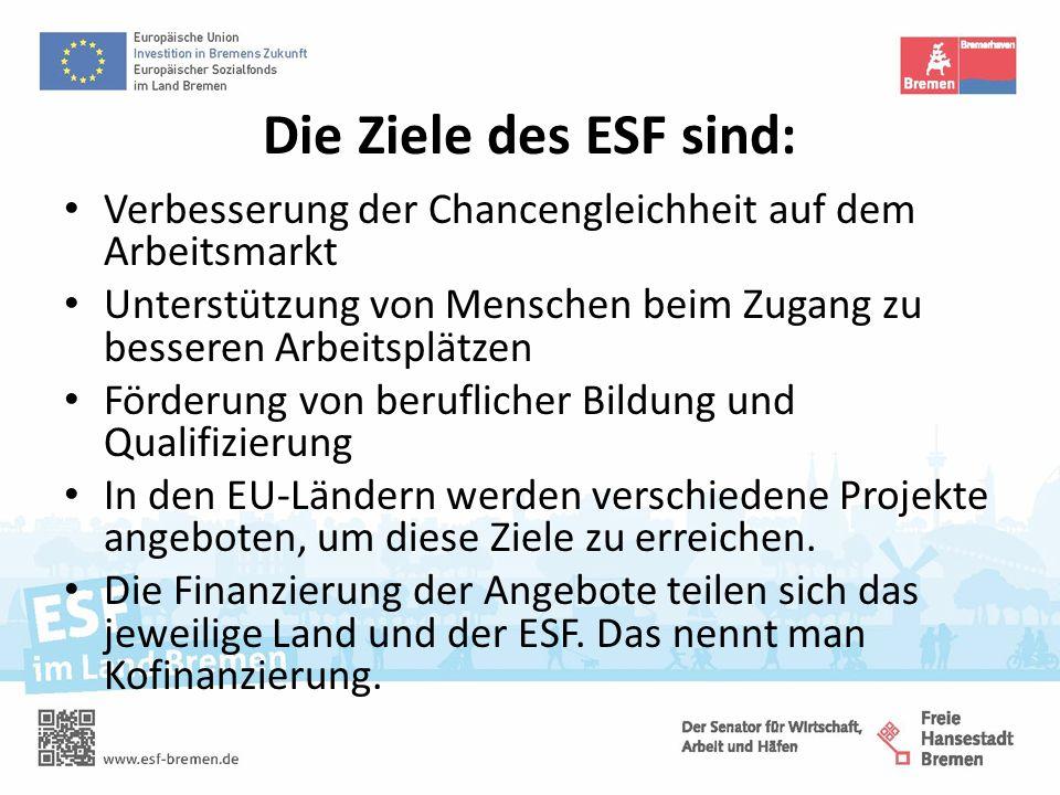 Kurz: Der ESF unterstützt die EU-Länder dabei, Arbeitskräfte zu fördern.