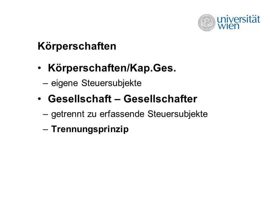 Körperschaften Körperschaften/Kap.Ges.