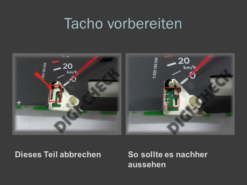 Tacho zerlegen Stift aus der Platine herausziehen.