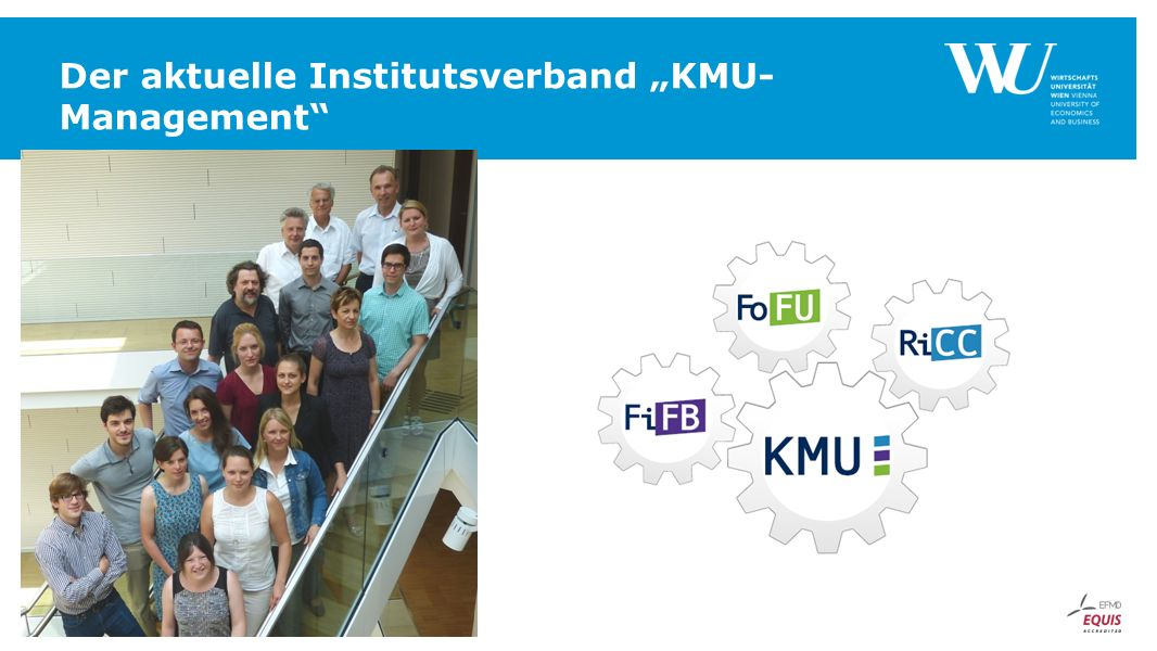 "Der aktuelle Institutsverband ""KMU- Management"""