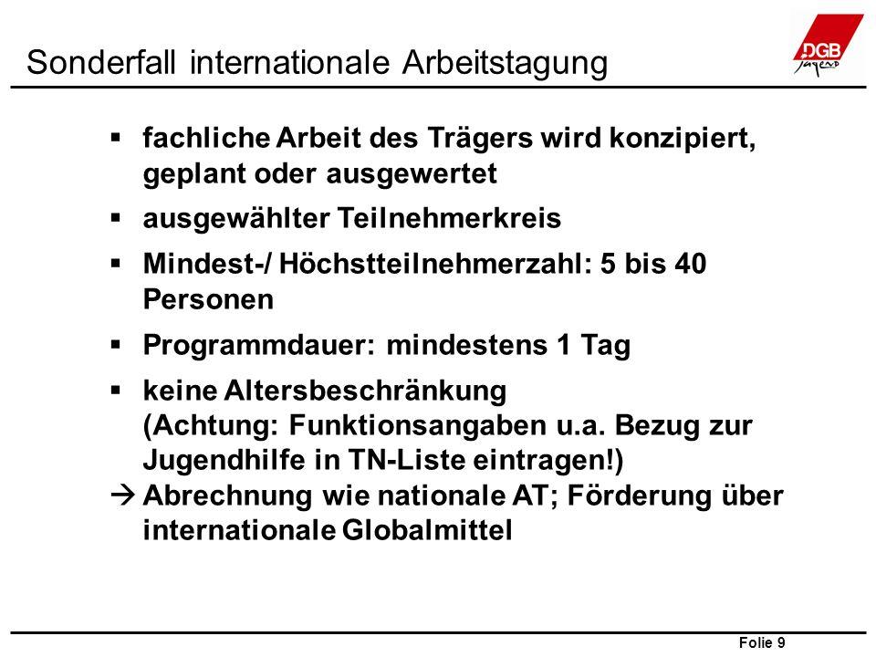 Folie 10 DGB Bundesvorstand; Abteilung Jugend und Jugendpolitik; Jessica Rinke Bis 31.12.