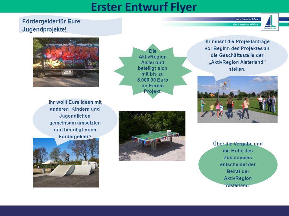 """Fördergelder für Eure Jugendprojekte! Ihr müsst die Projektanträge vor Beginn des Projektes an die Geschäftsstelle der """"AktivRegion Alsterland"""" stelle"""