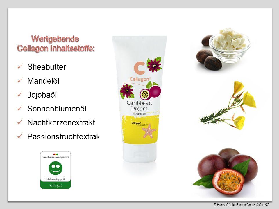 Sheabutter Mandelöl Jojobaöl Sonnenblumenöl Nachtkerzenextrakt Passionsfruchtextrakt