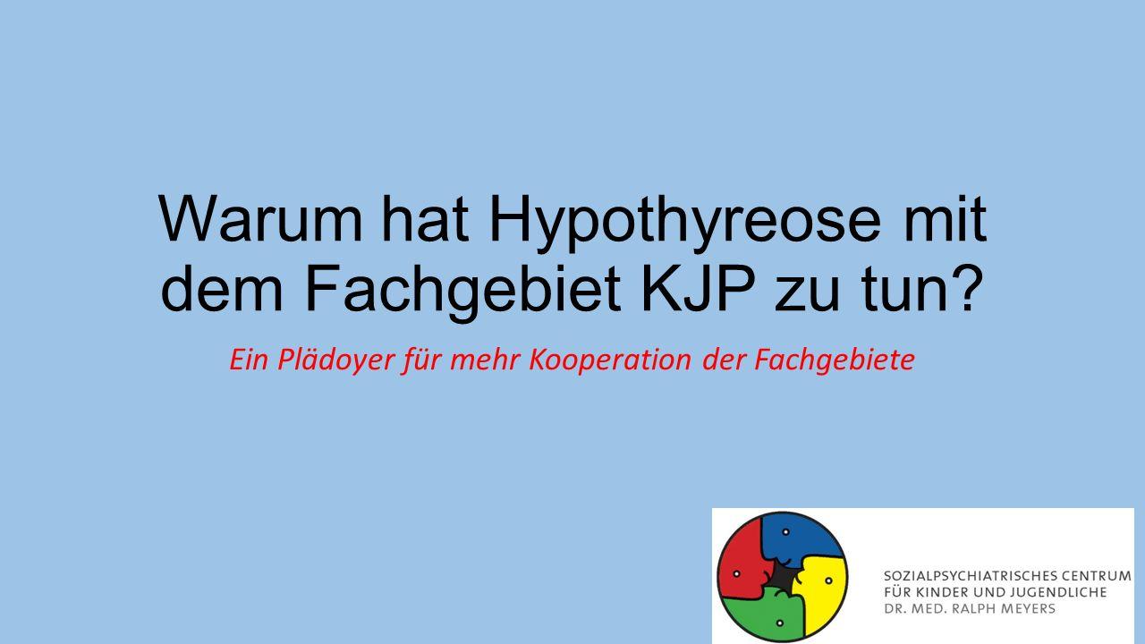 Aufgaben der Schilddrüse Produktion der Schilddrüsenhormone Trijodthyronin (T3) und Thyroxin (T4, Tetrajodthyronin) Schilddrüsenhormone beeinflussen in ihrer freien Form als fT3 bzw.