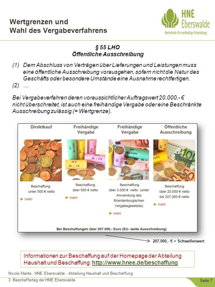Nicole Mante · HNE Eberswalde · Abteilung Haushalt und Beschaffung 3.