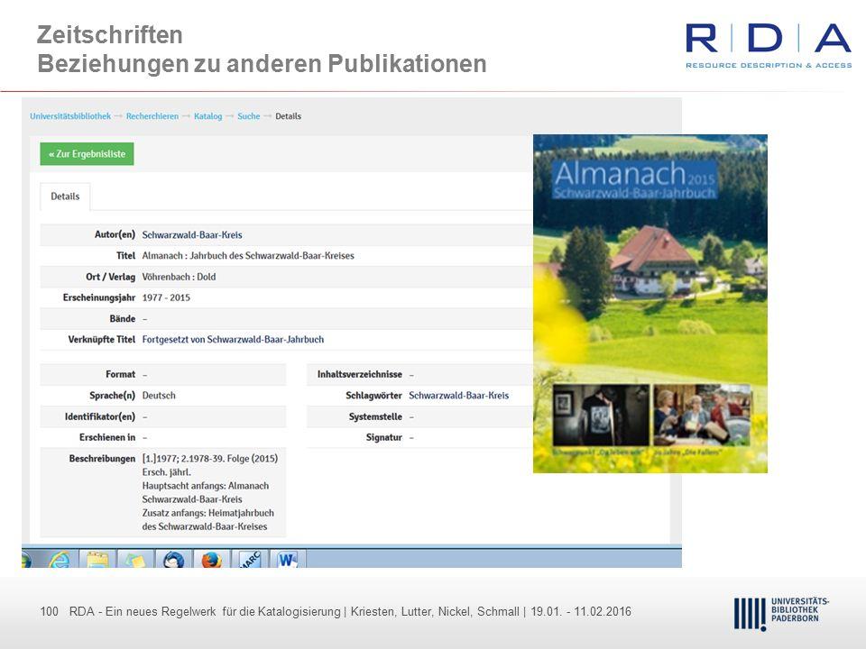 100 - Dr. Dietmar Haubfleisch – Die aktuellen Empfehlungen der DFG und des WR … – DBV, Sektion IV-Sitzung am 26.10.211 100 RDA - Ein neues Regelwerk f