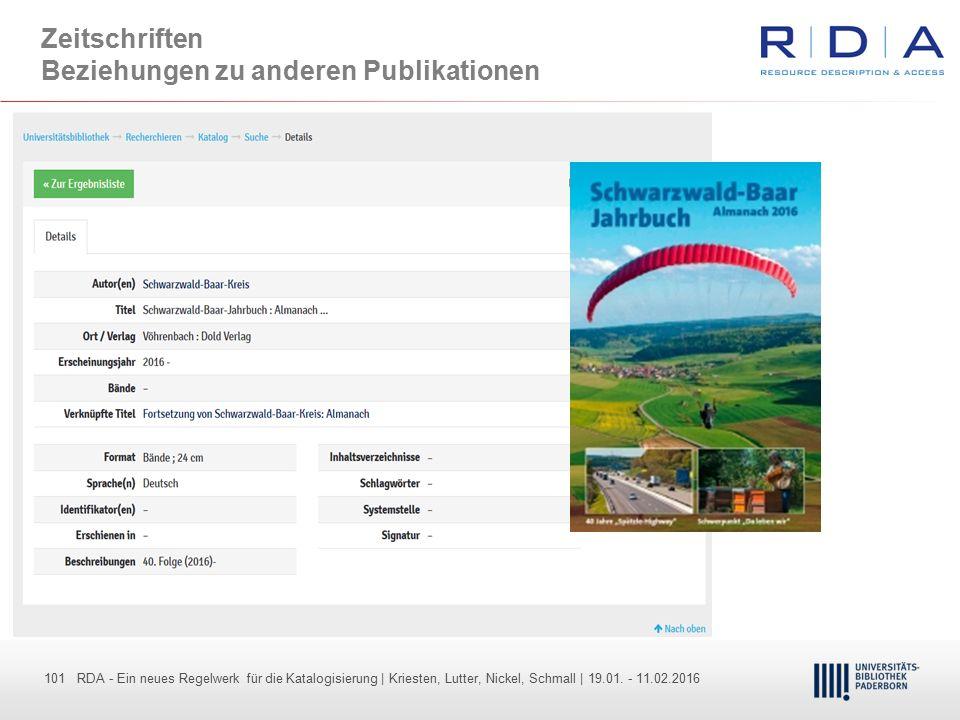 101 - Dr. Dietmar Haubfleisch – Die aktuellen Empfehlungen der DFG und des WR … – DBV, Sektion IV-Sitzung am 26.10.211 101 RDA - Ein neues Regelwerk f