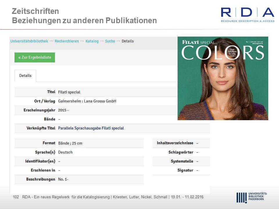 102 - Dr. Dietmar Haubfleisch – Die aktuellen Empfehlungen der DFG und des WR … – DBV, Sektion IV-Sitzung am 26.10.211 102 RDA - Ein neues Regelwerk f