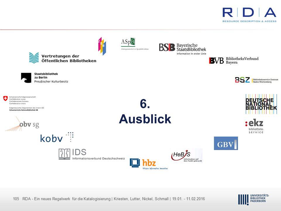 105 - Dr. Dietmar Haubfleisch – Die aktuellen Empfehlungen der DFG und des WR … – DBV, Sektion IV-Sitzung am 26.10.211 105 RDA - Ein neues Regelwerk f