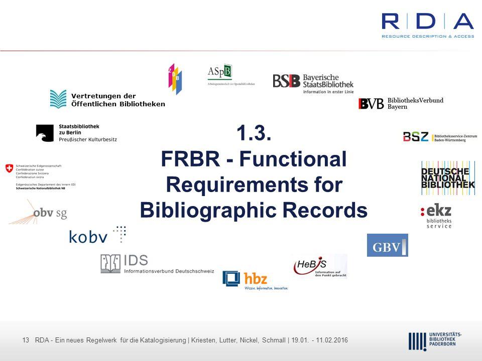 13 - Dr. Dietmar Haubfleisch – Die aktuellen Empfehlungen der DFG und des WR … – DBV, Sektion IV-Sitzung am 26.10.211 13 RDA - Ein neues Regelwerk für