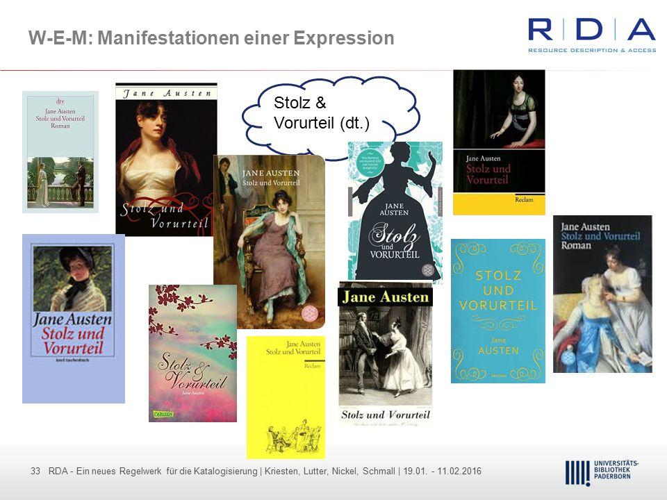 33 - Dr. Dietmar Haubfleisch – Die aktuellen Empfehlungen der DFG und des WR … – DBV, Sektion IV-Sitzung am 26.10.211 33 RDA - Ein neues Regelwerk für