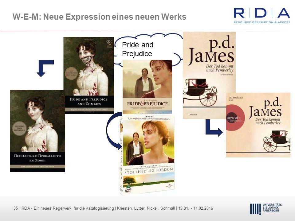 35 - Dr. Dietmar Haubfleisch – Die aktuellen Empfehlungen der DFG und des WR … – DBV, Sektion IV-Sitzung am 26.10.211 35 RDA - Ein neues Regelwerk für