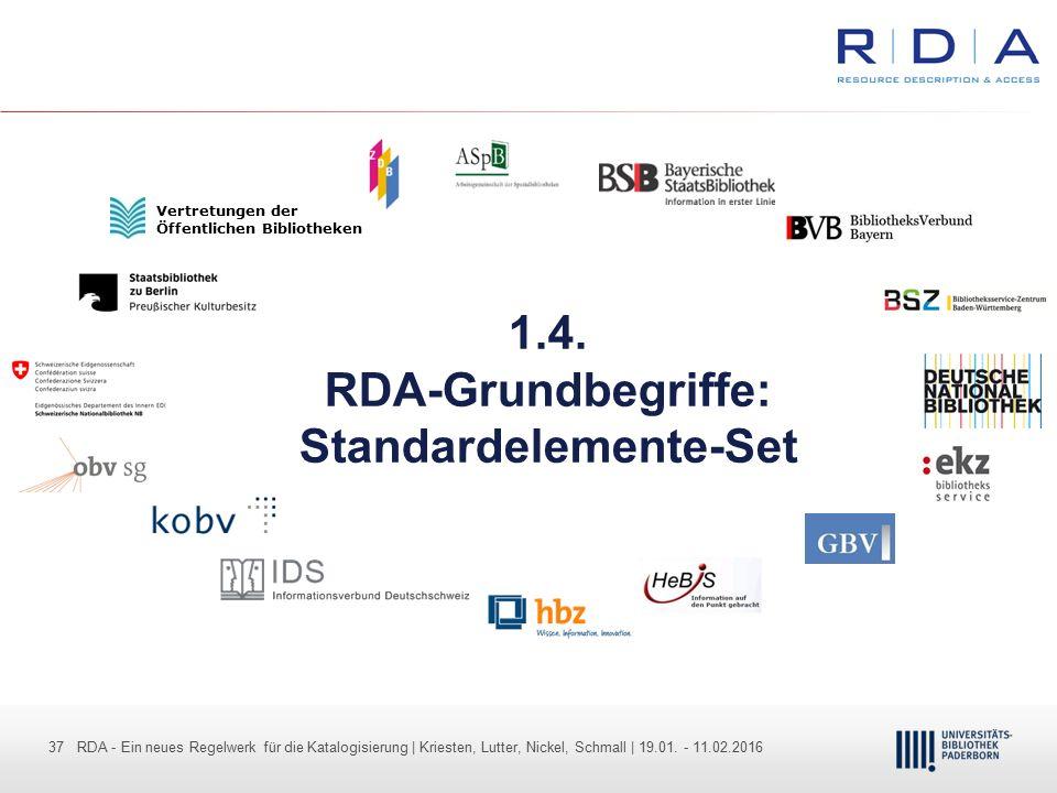 37 - Dr. Dietmar Haubfleisch – Die aktuellen Empfehlungen der DFG und des WR … – DBV, Sektion IV-Sitzung am 26.10.211 37 RDA - Ein neues Regelwerk für