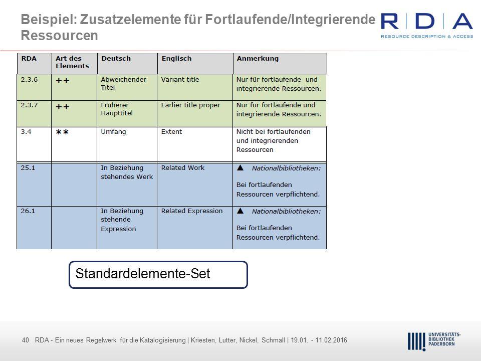 40 - Dr. Dietmar Haubfleisch – Die aktuellen Empfehlungen der DFG und des WR … – DBV, Sektion IV-Sitzung am 26.10.211 40 RDA - Ein neues Regelwerk für