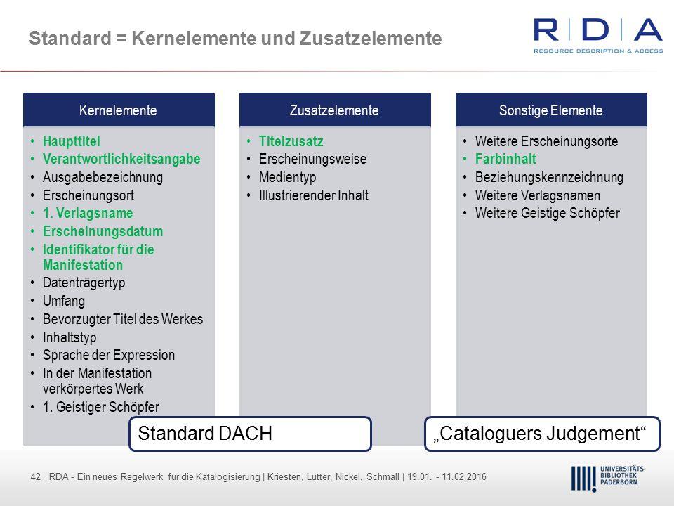42 - Dr. Dietmar Haubfleisch – Die aktuellen Empfehlungen der DFG und des WR … – DBV, Sektion IV-Sitzung am 26.10.211 42 RDA - Ein neues Regelwerk für