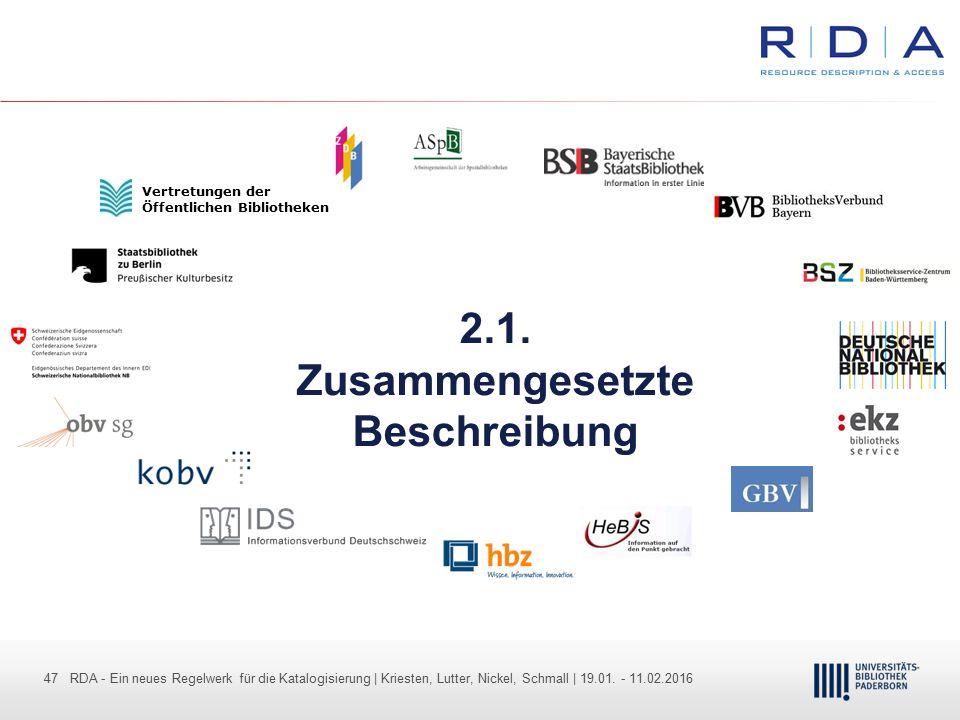 47 - Dr. Dietmar Haubfleisch – Die aktuellen Empfehlungen der DFG und des WR … – DBV, Sektion IV-Sitzung am 26.10.211 47 RDA - Ein neues Regelwerk für
