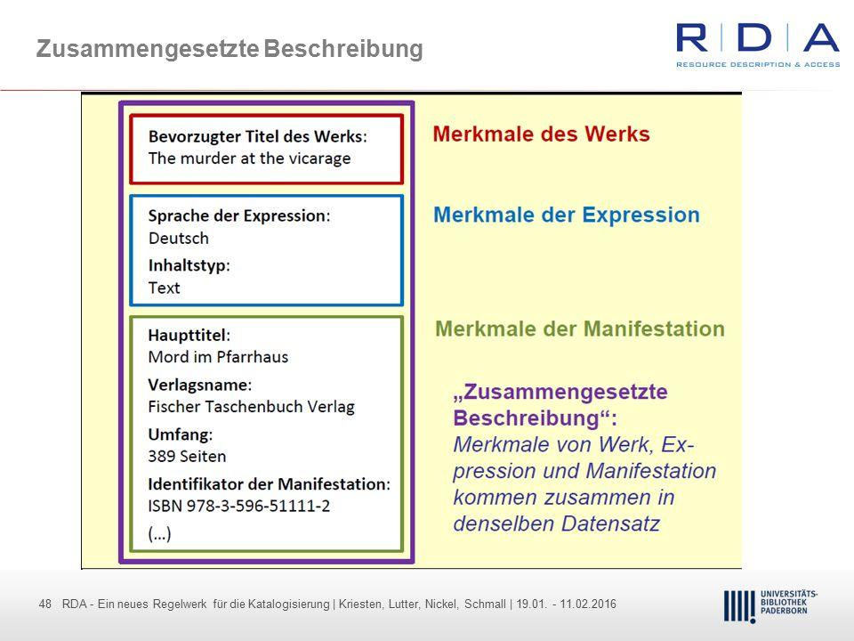 48 - Dr. Dietmar Haubfleisch – Die aktuellen Empfehlungen der DFG und des WR … – DBV, Sektion IV-Sitzung am 26.10.211 48 RDA - Ein neues Regelwerk für
