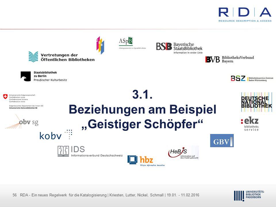 56 - Dr. Dietmar Haubfleisch – Die aktuellen Empfehlungen der DFG und des WR … – DBV, Sektion IV-Sitzung am 26.10.211 56 RDA - Ein neues Regelwerk für