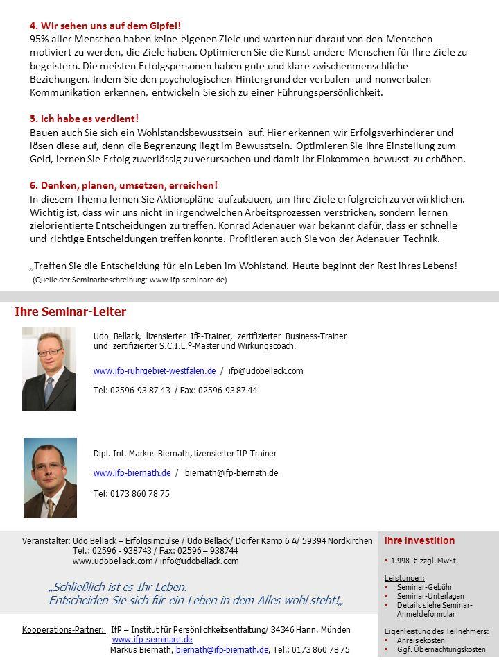 Kooperations-Partner: IfP – Institut für Persönlichkeitsentfaltung/ 34346 Hann.