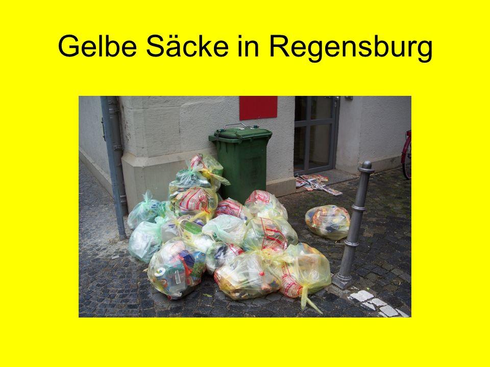 Gelbe Säcke in Regensburg