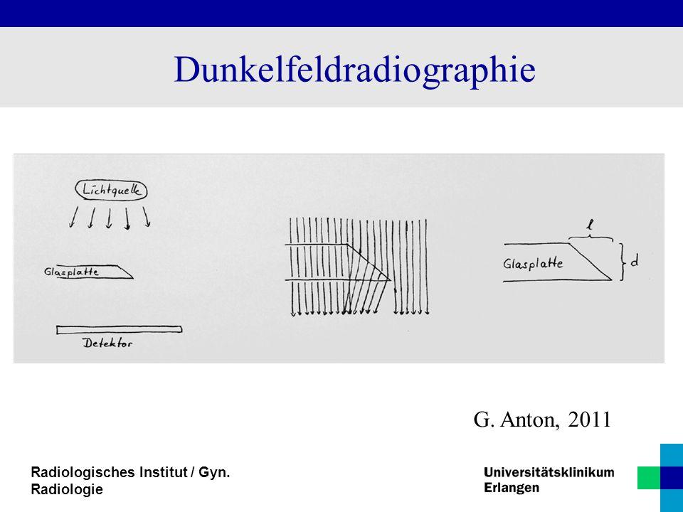 Radiologisches Institut / Gyn. Radiologie Dunkelfeldradiographie G. Anton, 2011
