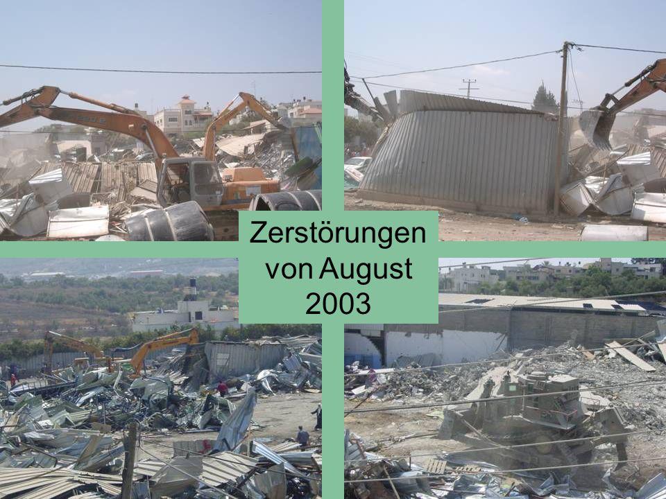 Zerstörungen von August 2003