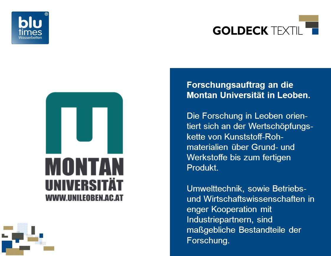Forschungsauftrag an die Montan Universität in Leoben.