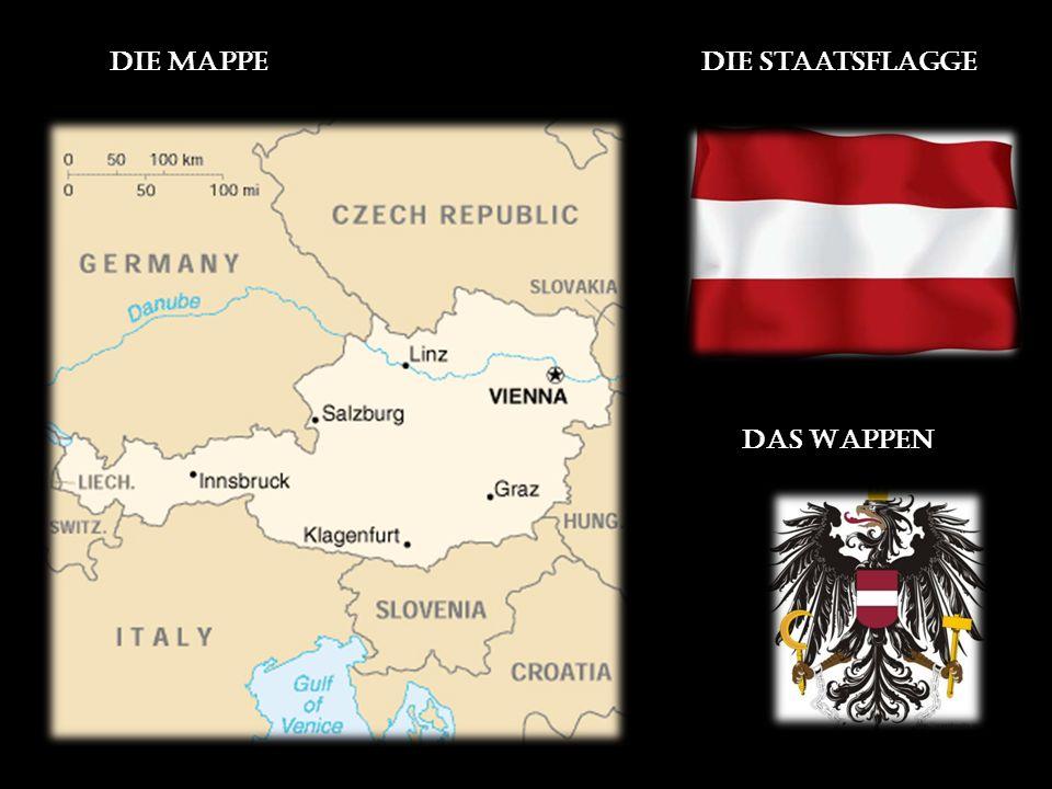 Die Mappedie Staatsflagge Das Wappen