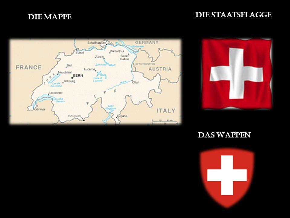 Die Mappe die Staatsflagge Das Wappen