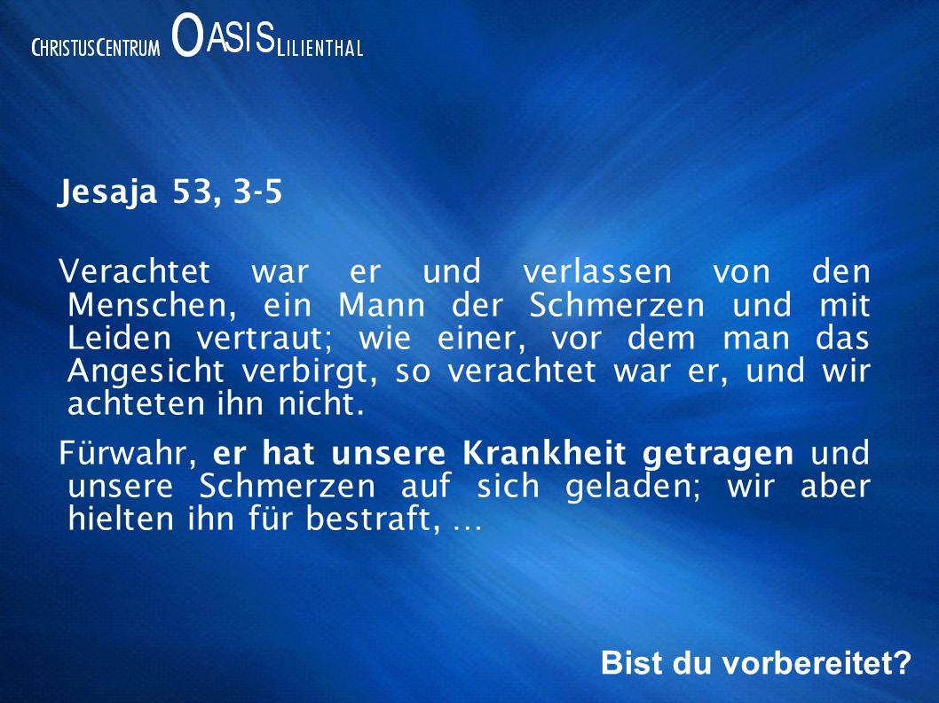 …von Gott geschlagen und niedergebeugt.