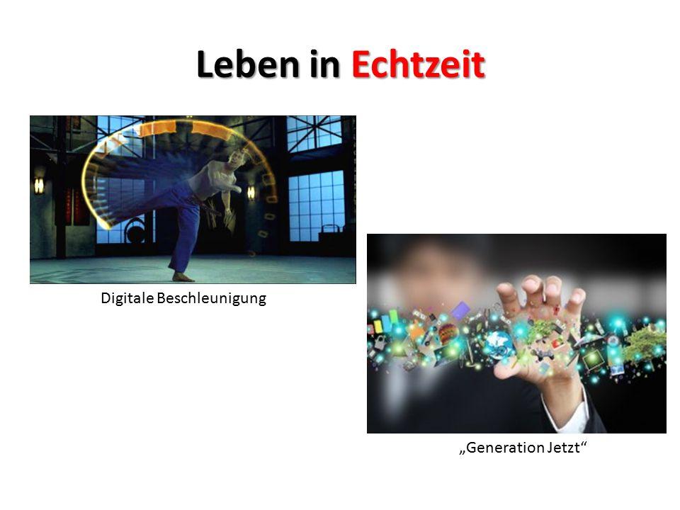 """Leben in Echtzeit Digitale Beschleunigung """"Generation Jetzt"""""""