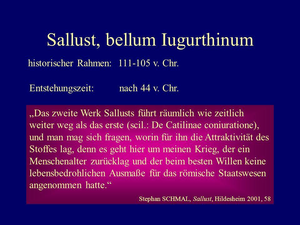 Sallust, bellum Iugurthinum historischer Rahmen:111-105 v.